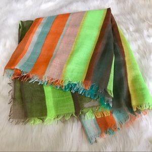 Accessories - Neon Stripe Scarf